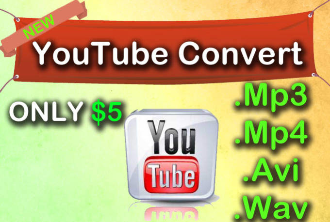 convert any youtube video to mp3, mp4, or wav file