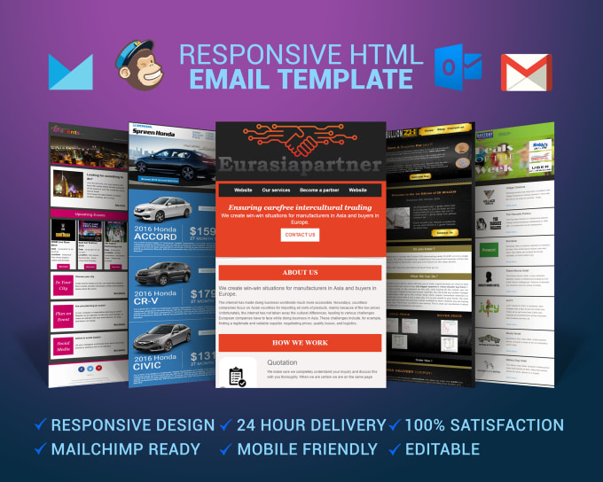 Create Responsive Email Template Or News Letter For You By Softflex - How to create responsive email template