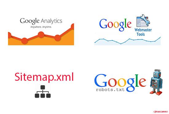 setup google analytics webmaster tools sitemap robots txt by cjmascareno
