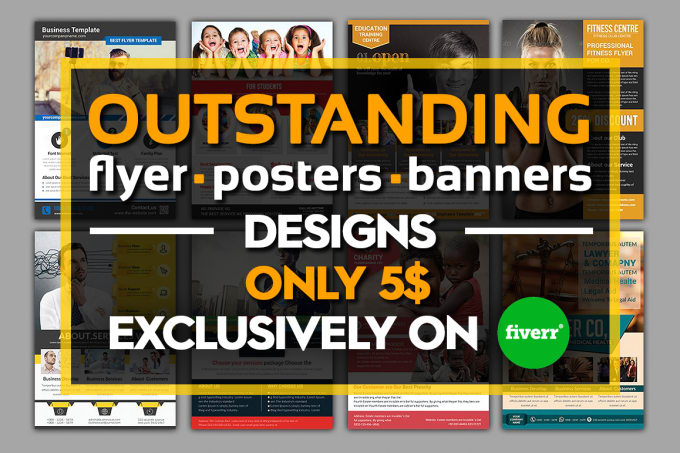 design professional flyer poster or brochure by logographs