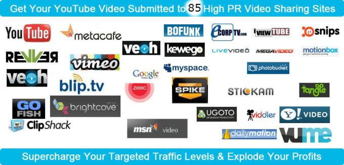 hmohssin : I will manually upload on 60 video sharing sites PR 9 for $40 on  www fiverr com