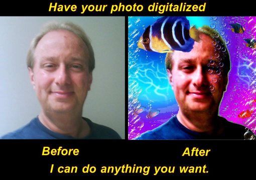 digital enhance your photo for a really cool profile picture