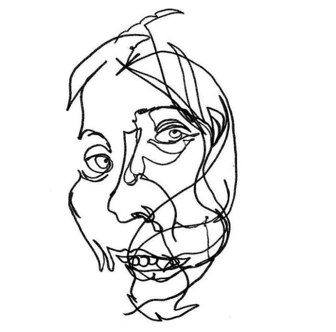 Contour Line Drawing Portrait : Draw a blind contour portrait from any photo by dibbyface