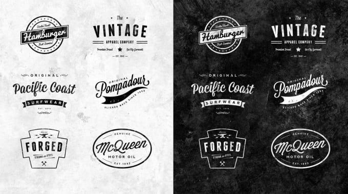 design retro and hipster logo for you by logo designer16