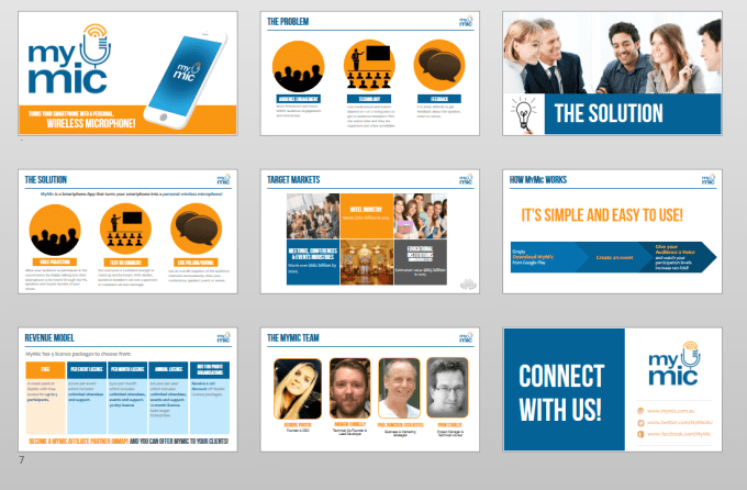 Send you an investor presentation template by Tcnseoservices