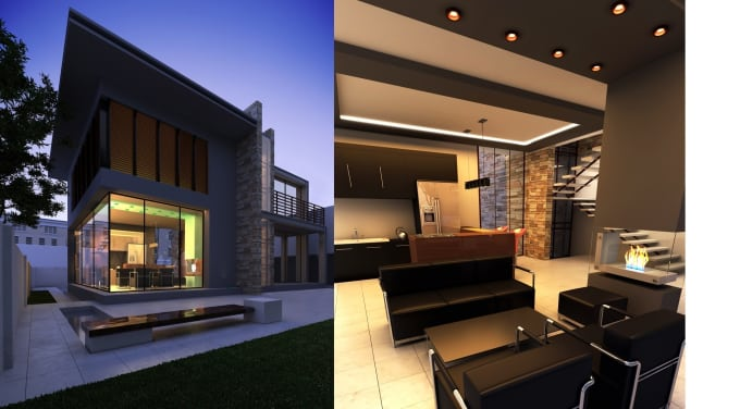 make 3d rendering for any 3ds max, revit, or sketchup models