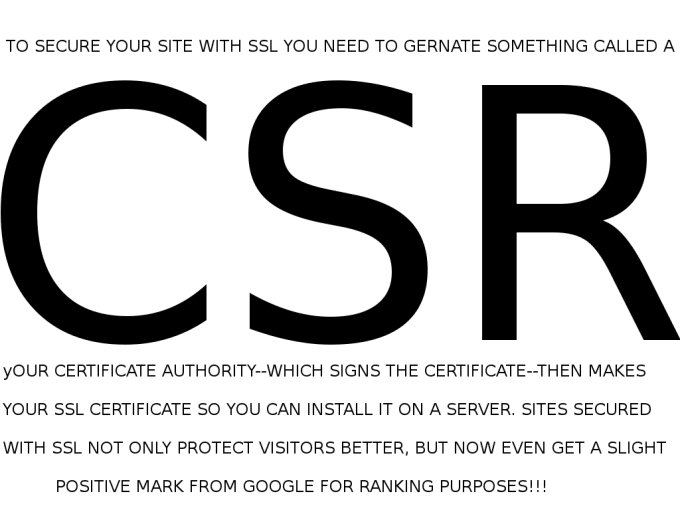 Generate A Csr So You Can Get An Ssl Cert By Infinitelink