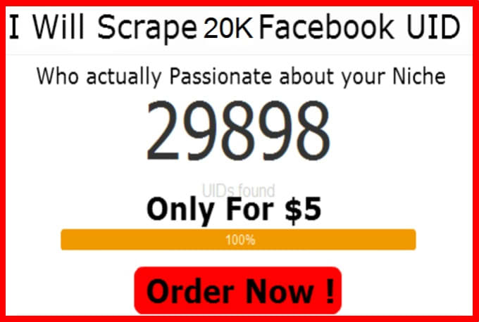 harisseo : I will scrape Facebook ID and Email From Any Group,Page or Event  for $5 on www fiverr com