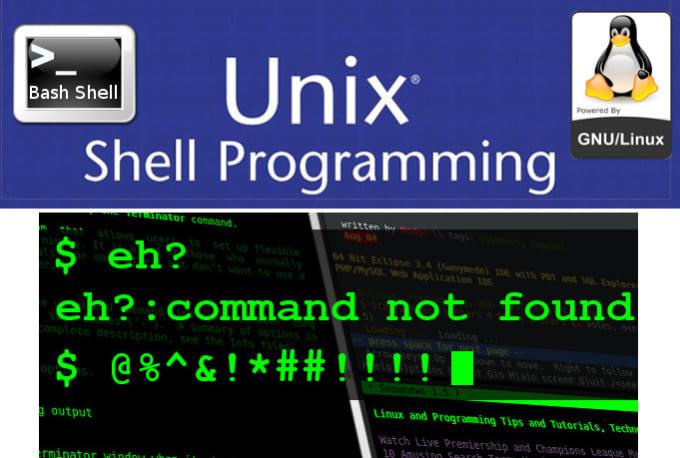 write linux or unix shell scripts, bash and Windows Powershell