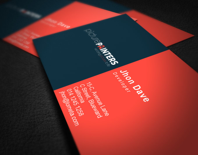 Do Front And Back Business Card For You By Pixitech