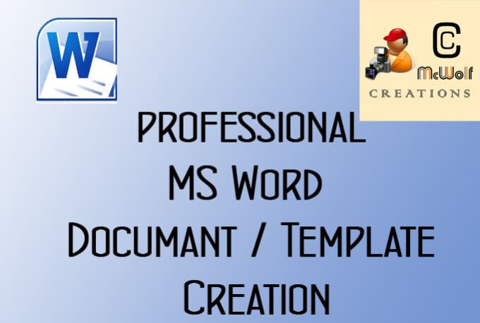 Create professional looking word documents and templates by Ccmcwolf