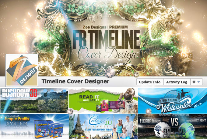 Design Your Facebook Cover With Profile Picture By Zeedesigns
