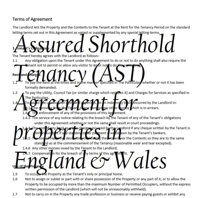 Supply Our Tenancy Agreement For Residential Properties By Lettingguru