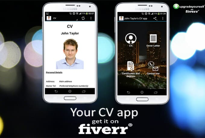 create an android app from your cv to impress your employers by