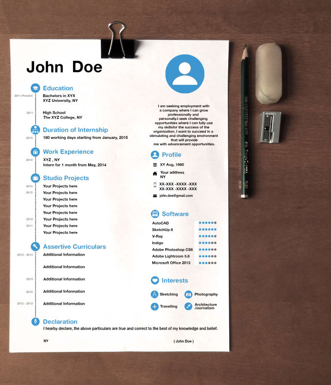 Design A Very Attractive Resume For You By Mehul121