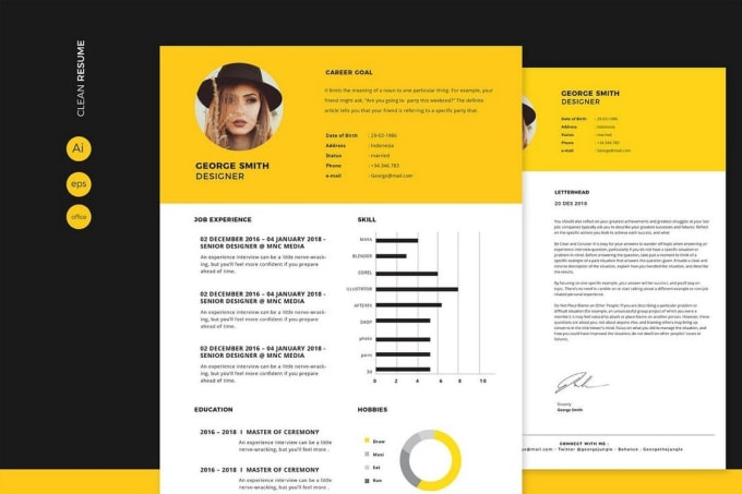 design, recreate, modify your CV and cover letter perfectly