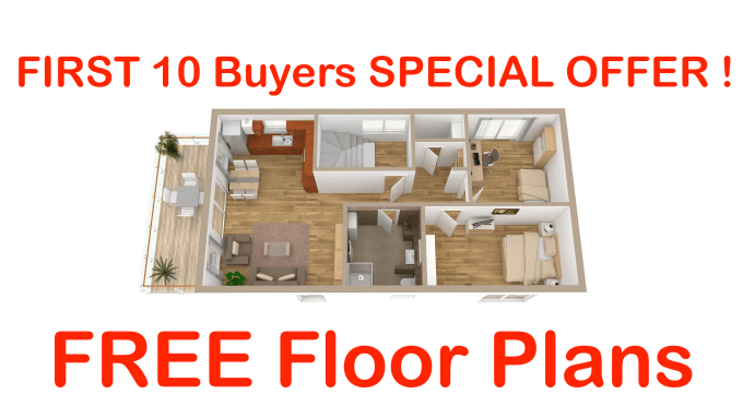 Create your 3d floor plan for free by