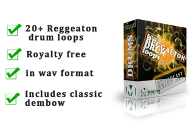 musicdude : I will send you 20 plus killer Reggaeton drum loops classic  dembow and others for $5 on www fiverr com
