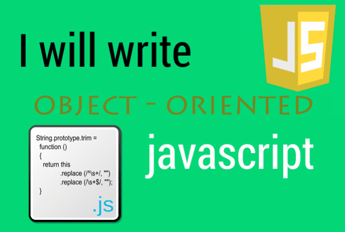 write object oriented javascript