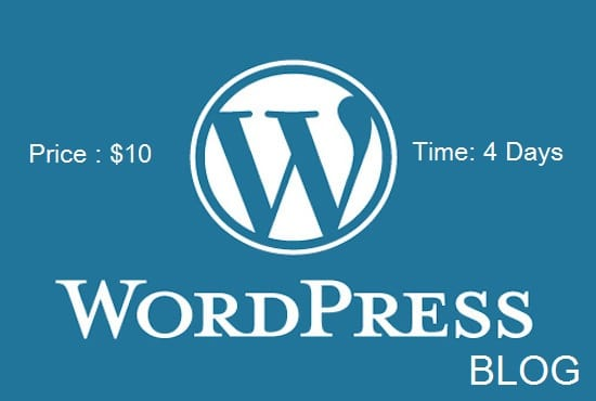 create a wordpress blog for you