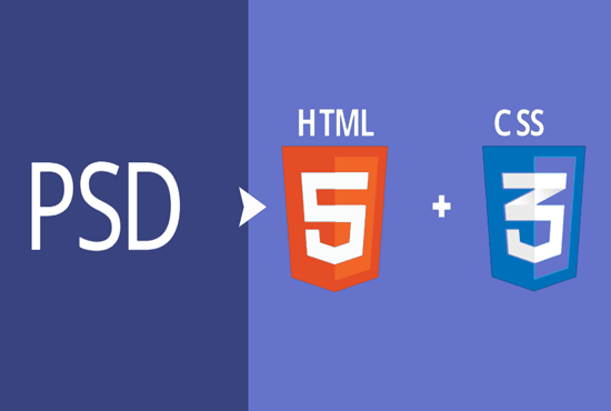 convert PSD to html fully responsive landing page
