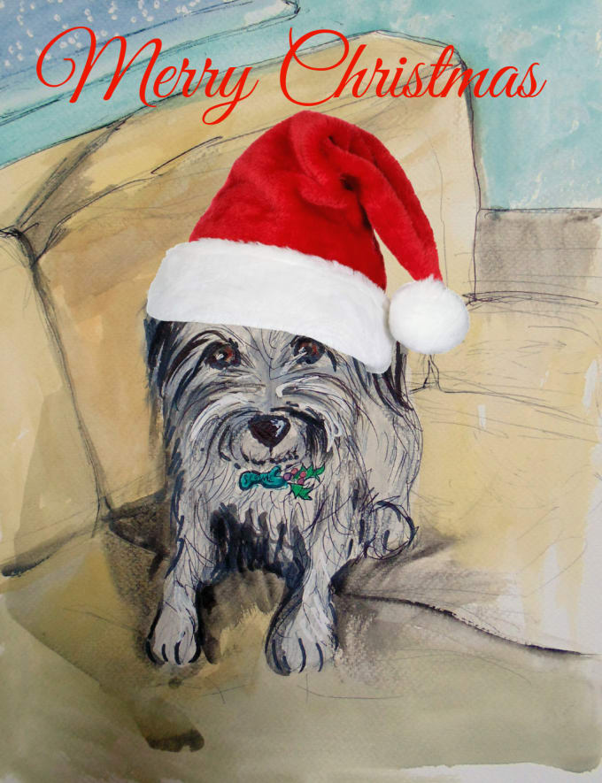 Paint Your Pet In A Fun Christmas Scene