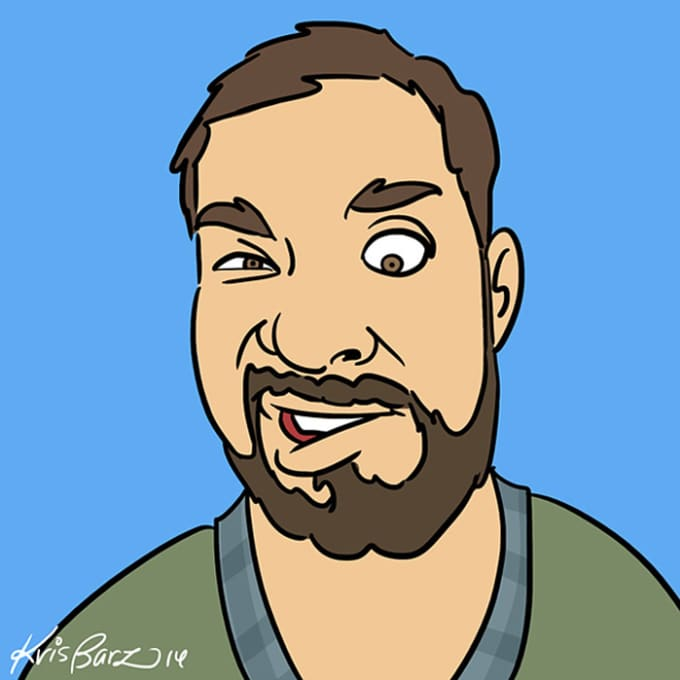draw your funny or weird face in a cartoon style by krisbarz