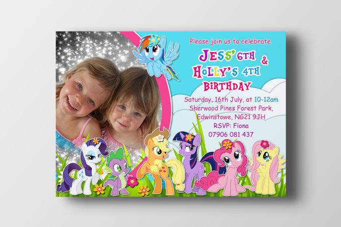 I Will Design A Custom Birthday Invitation Party