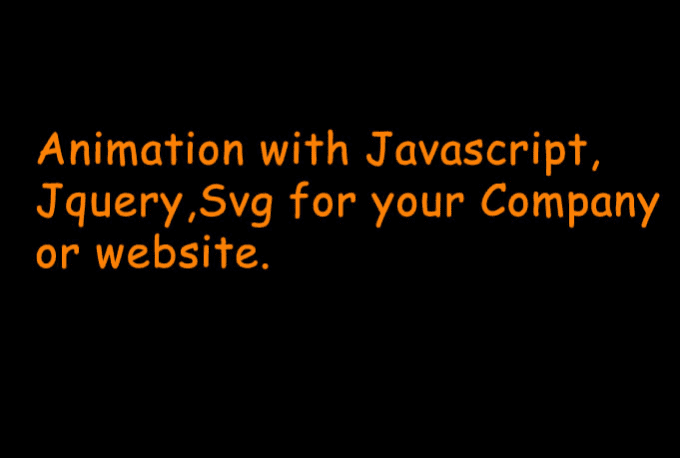 create animation in javascript,jquery,svg for website and mobile device