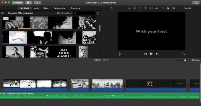 edit any video for you on imovie