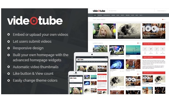 Give you 2 responsive video wordpress themes by Fastpinguin