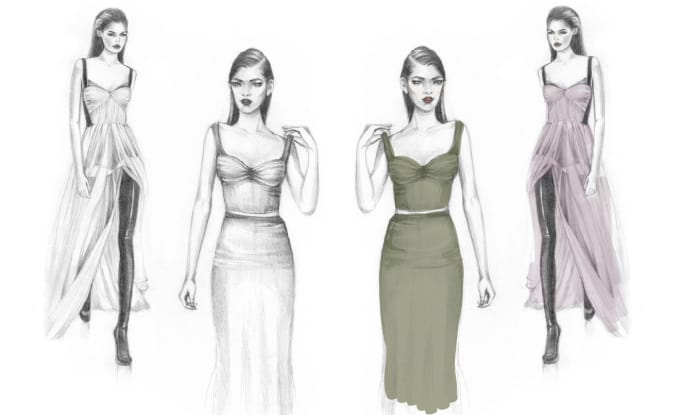 Drawing Fashion Design Sketches