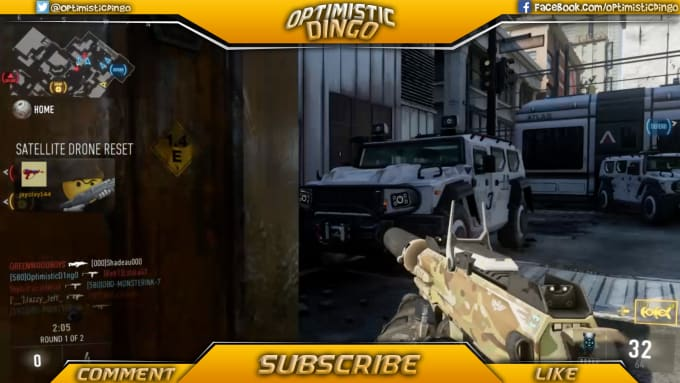 create a twitch or youtube video overlay