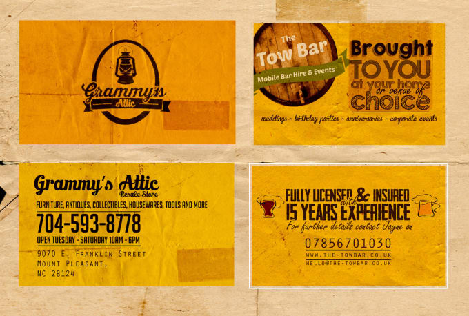 Design a vintage business card or name tag by supuntharaka225 design a vintage business card or name tag reheart Image collections