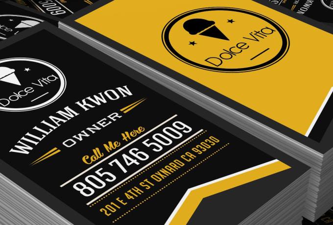 Design professional retro vintage business card colourmoves