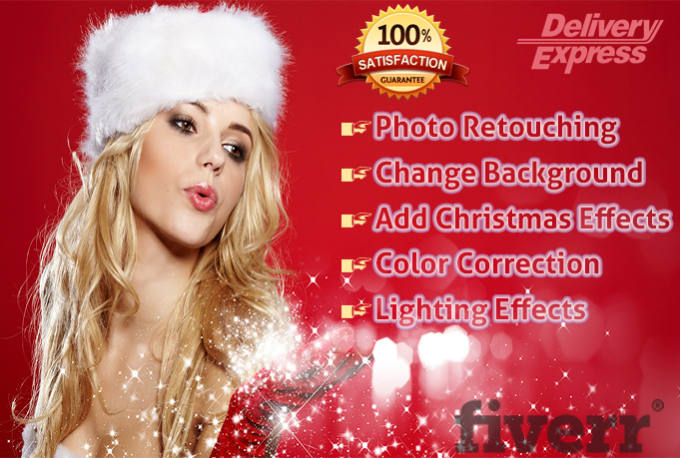 edit and add christmas effects on pictures logo