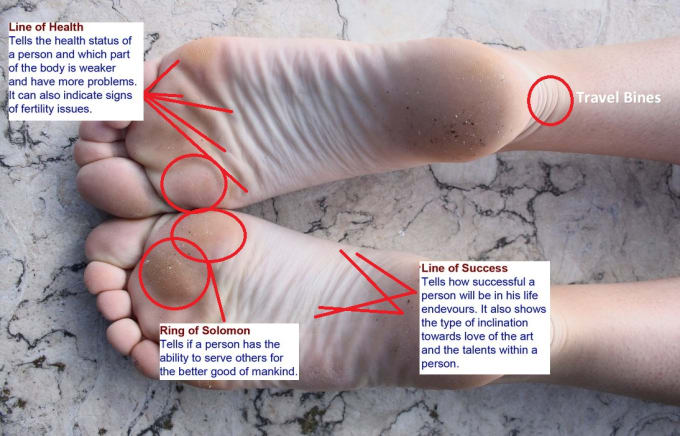 feetfortune : I will read your future from soles and toes lines for $5 on  www fiverr com