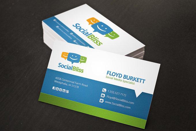 Create this custom social media business card for you by seoquick create this custom social media business card for you colourmoves Gallery