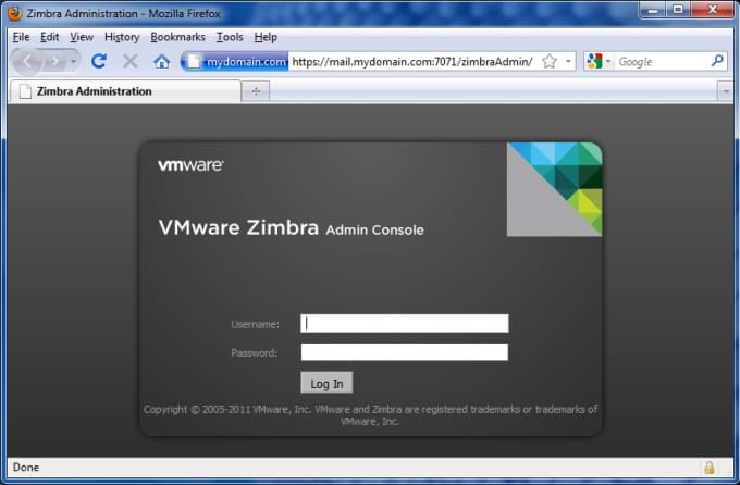 setup Zimbra mail server