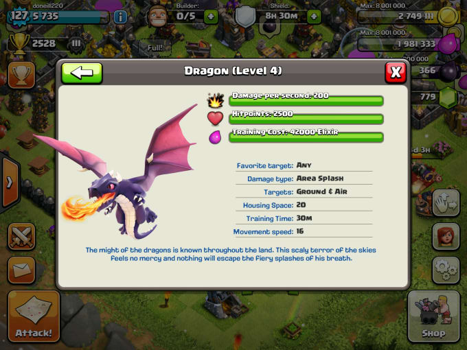 Brew A Max Level Dragon For Your Clash Of Clans Cc By Doneill220
