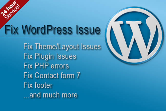 moazzam77 : I will fix your wordpress any problem solve 24houre for $5 on  www fiverr com