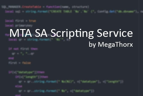 create a script for mta sa
