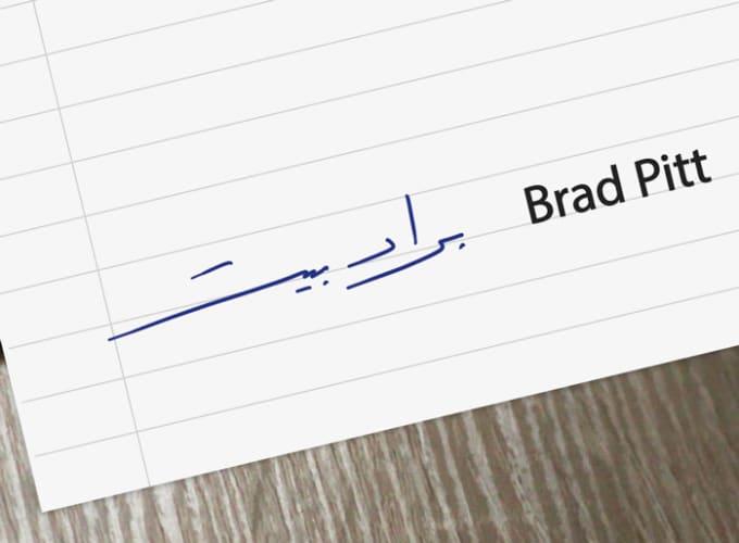 make cool handwritten arabic signatures for english names