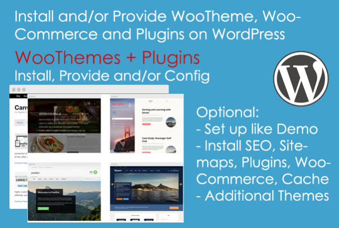 Install and provide any woothemes theme for wordpress sites by ...
