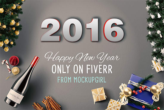 create a profi new year greeting card fast