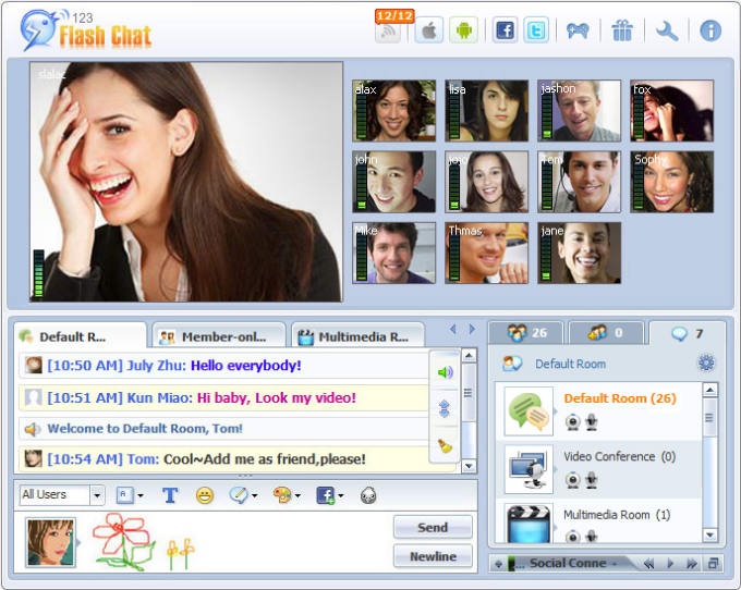 chat room webcam