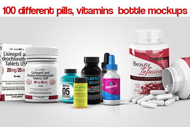 Vitamin Bottle Label