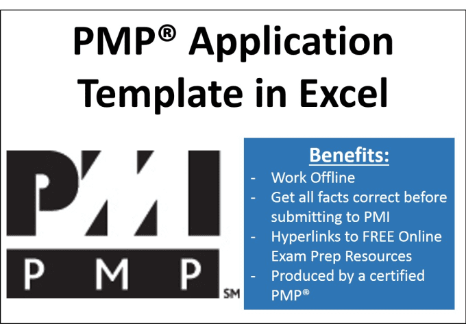 Provide A Pmp Application Template In Excel By Weller34
