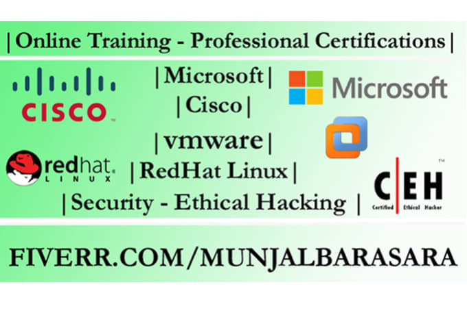Provide Training For Professional Certifications By Munjalbarasara