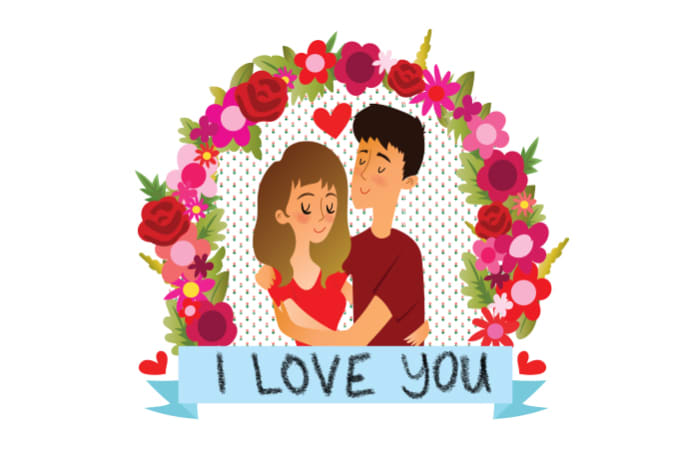 Draw A Cute Valentines Day Cartoon For Your Lover By Lolotheartist